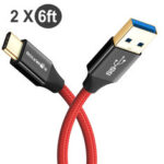 New              [2 Pack] BlitzWolf® BW-TC10 3A 6ft/1.8m Braided Durable USB 3.0 to Type-C Fast Charging Data Cable For Huawei P30 P40 Pro Xiaomi Mi10 Redmi Note 9S