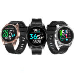 New              LYNWO BT01 Real-time Body Ambient Temperature Detection HR Blood Pressure O2 Monitor Multiple Dials IP68 Smart Watch