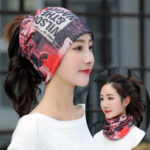 New              Printed letter Beanie Hat Chemotherapy Cap Breathable Turban Outdoor Cap