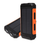 New              500000MAH Waterproof Solar Power Bank Solar Charger Built In Compass Dual USB Portable And 2 Leds