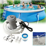 New              220V Swimming Pool Filter Pump 300 GPH Pump Flow Rate Summer Swimming Pool Water Filter Clean Dirty Pumps