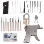 New              Strong Lock Pick Locksmith Tool Door Lock Opener Fast Unlock Spanner Blades Kit