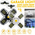New              40/60/80W Deformable E26/E27 Ultra-bright LED Garage Ceiling Light Motion Activated