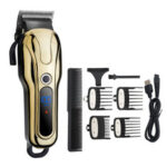 New              Display High Power Electric Hair Clipper 2 Gear Regulated Professional Shaver Trimmer Hair Trimming Machine Barber Tool with Limited Combs