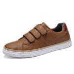 New              Menico Men Microfiber Leather Non Slip Hook Loop Soft Casual Sneakers