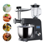 New              BlitzWolf® BW-VB1 Vertical Blender Stand Mixer with 1500W Pure Copper Motor, 8 Adjustable Speeds, Multifunctional Design, 5.5L Large Bowl