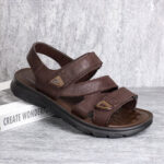 New              Menico Men Microfiber Leather Casual Slip Resistant Hook&Loop Sandals