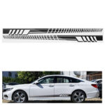 New              2PCS 205cm Racing Stripe Totem Body Sticker Side Skirt Vinyl Decal Decor