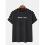 New              100% Cotton Text Print Loose Short Sleeve Simple T-Shirts