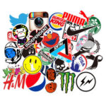 New              100PCS Skateboard Graffiti Stickers Waterproof For Suitcase Car Refrigerator Motorcycle Decoration