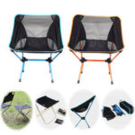 New              Portable Folding Camping Chair Beach Hiking Picnic Seat Extended Fishing Tools Chair For Travel