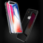 New              Bakeey 360º Curved Magnetic Flip Double-sided 9H Tempered Glass Metal Full Body Protective Case for iPhone X / XS / XR / XS Max / 7 / 8 / 7 Plus / 8 Plus / 6 / 6 Plus