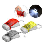 New              Hand Crank Flashlight Self-Pressing LED Camping Light Outdoor Hunting Tactical Torch