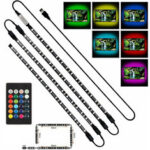 New              4x50cm USB LED Strip Light 5050 RGB Multi Color Mood Light TV Backlight Background Decoration w/Remote