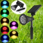 New              Solar Powered LED Garden Lawn Light Colorful Spotlight Outdoor Yard Landscape Path Lamp
