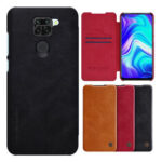 New              Nillkin for Xiaomi Redmi Note 9 / Redmi 10X 4G Case Bumper Flip Shockproof with Card Slot Full Cover PU Leather Protective Case