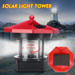 New              LED Rotating Lighthouse Solar Light Tower Top Garden Yard Lawn Lamp Outdoor Landscape Lighting