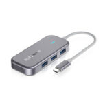 New              BlitzWolf® BW-TH10 6-in-1 USB-C Data Hub 6 Ports USB3.0 Docking Station Type-C PD Charging USB Adapter Converter