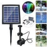 New              Solar Powered LED Colorful Light Fountain Water Pump Floating Garden Pond Pool Fish Bird Bath