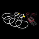 New              4PCS 146MM+131MM CCFL LED Angel Eyes Light Headlight Halo Ring Set White Color For BMW E46