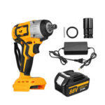 New              10000mAh Brushless Wrench Adapted TO 18V Makita Baterry Cordless Impact Wrench Power Wrench With 1 Battery 1 Charger