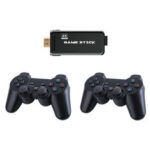 New              X8 SDRAM DDR3 256MB Wireless 4K UHD Game Stick 32GB 3550 Games TV Game Player with Dual 2.4G Gamepad Support PS1 MD GBA GB GBC SFC N64 MAME Arcade Game Console