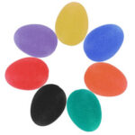New              Silicone Stress Relief Balls Portable Finger Exercise Hand Therapy Squeeze Balls