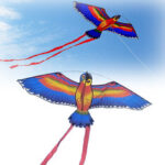New              110x55cm Colorful Parrot Kite Flying Toys Children Outdoor Game Activities