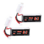 New              2Pcs URUAV 7.4V 300mAh 60C 2S Lipo Battery PH2.0 Plug for RC Drone
