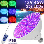 New              45W E27 PAR56 RGB LED Bulb 12V Underwater Light Swimming Pool Light & Spa Light W/ Remote