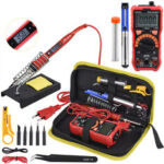 New              JCD 908S 80W Soldering Welding Iron kits 110V 220V Adjustable Temperature Digital Multimeter Auto Ranging LCD Solder Iron Tips Welding Rework Tools