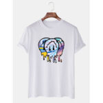 New              Mens Cartoon Print Crew Neck Short Sleeve T-Shirts