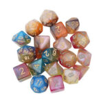 New              7Pcs Polyhedral Dice Set Board Game Multisided Dices Gadget Acrylic Polyhedral Dices Role Playing Game Accessory For Dungeons Dragon