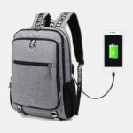 New              Men USB Charging Port Large Capacity 16 Inch Multifunction Backpack Casual Bag