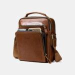New              Men Genuine Leather Fashion Shoulder Bag Crossbody Bag Business Bag