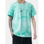 New              Tie Dye Mens Round Neck Casual Short Sleeve T-Shirts