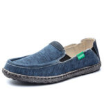 New              Men Washed Canvas Comfy Breathable Slip On Casual Shoes