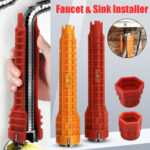 New              Multifunctional Wrench Faucet Wrench Sink Spanner Water Pipe Hose Socket Tackle