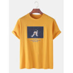 New              Cotton Space Astronaut Print Round Neck Short Sleeve Loose T-Shirts