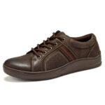 New              Menico Men Microfiber Leather Comfy Non Slip Casual Shoes