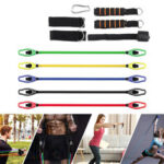 New              11 Pcs Fitness Resistance Bands Set Pilates Pull Rope Exercises Elastic Band