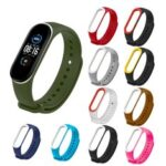 New              Deffrun Dual Color Silicone Watch Band Replacement Watch Strap for Xiaomi mi band 5