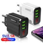 New              Bakeey 3.1A USB Charger LED Display Fast Charging Travel Charger Adapter For iPhone 8Plus XS 11Pro Xiaomi MI10 Redmi Note 9S