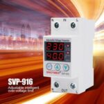 New              SINOTIMER SVP-916 230V 40A/63A Adjustable Auto-recovery Under/Over Voltage Protector Relay Breaker Protective Device With LED