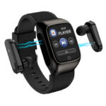 New              Bakeey S300 Wireless Earphone Full Touch Wristband Continuous Blood Pressure Oxygen Monitor Smart Watch