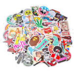 New              100Pcs Graffiti Decorative Stickers Cartoon Suitcase Sticker Waterproof