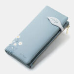New              Women 13 Card Slots Bifold Flower Printed Long Wallet Clutches Bag