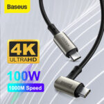New              Baseus 100W 5A USB-C to USB-C Power Delivery PD3.0 QC4.0 Fast Charging Coxial Cable USB 3.1 gen2 10Gbps Data Sync Cord 4K HD Display Video Output For Samsung Galaxy S20 Huawei P40 For iPad Pro 2020 MacBook Pro 2020