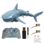 New              T11B with Two Batteries 2.4G 4CH Electric RC Boat Simulation Shark Animal RTR Model Kids Toys
