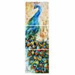 New              3Pcs/set HD Peacock Wall Decorative Paintings Canvas Print Art Pictures Frameless Wall Hanging Decorations for Home Office